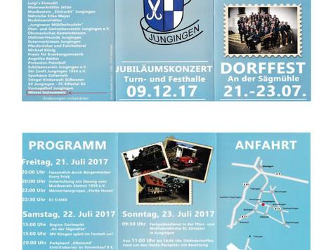 Dorffest in Jungingen vom 21.-23.07.2017