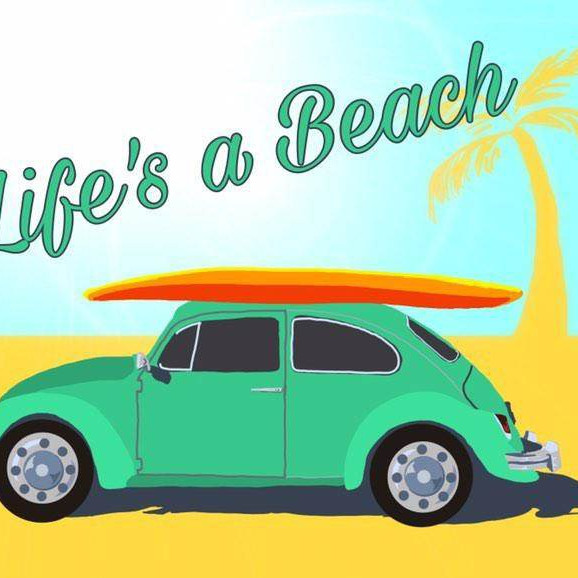 06/27 Life's A Beach Sip & Paint  (In-Studio or Virtually)