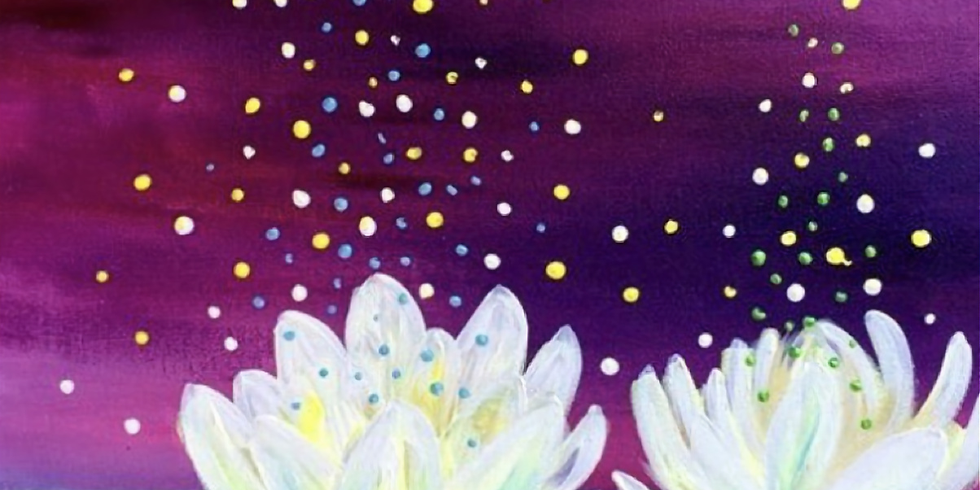 Lotus Flower Virtual Paint Party