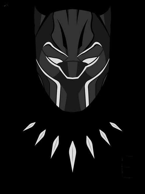 Black Panther Predrawn Canvas