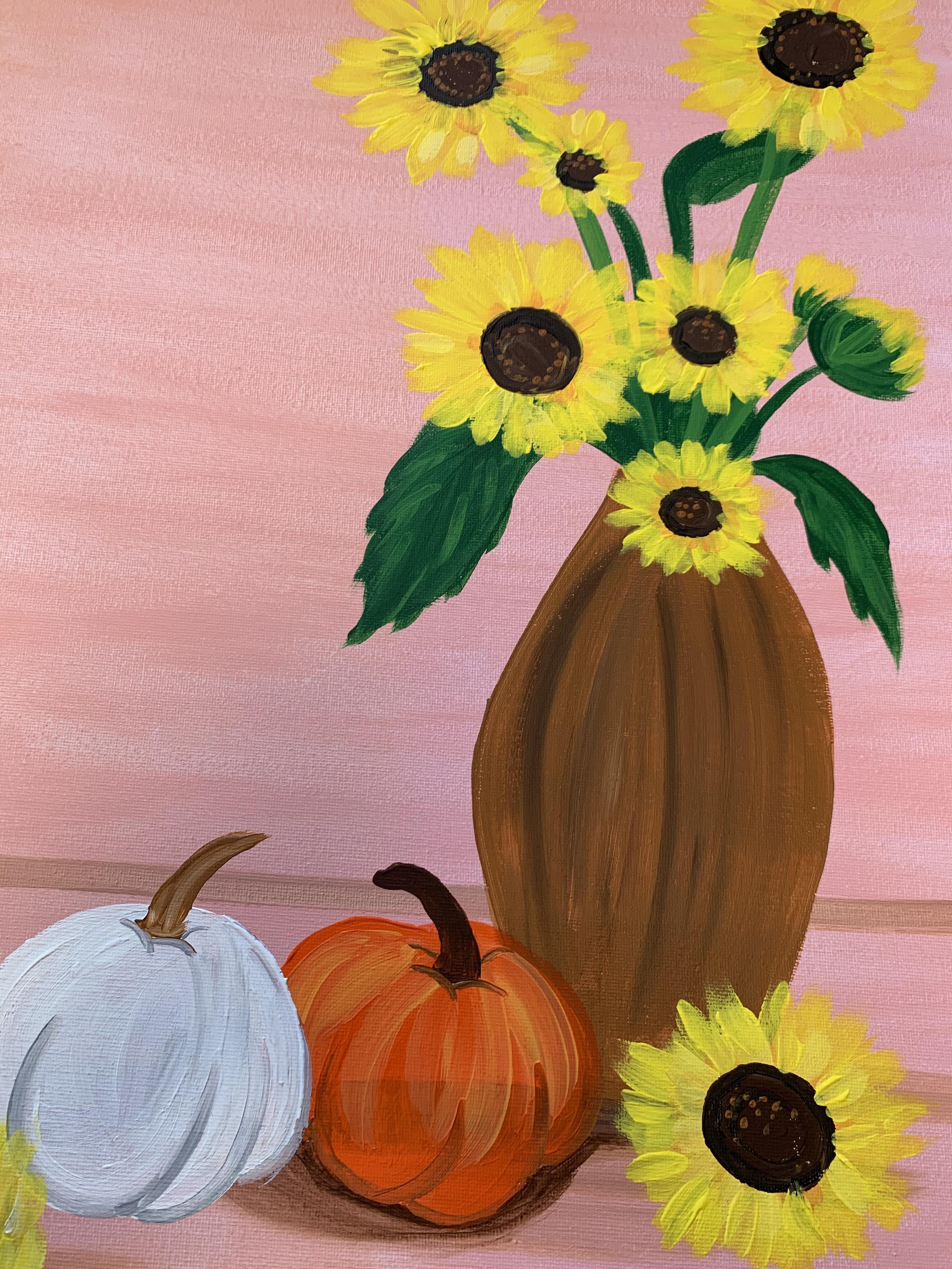 10/04 Harvest Sip & Paint (In-Studio or Virtually)   (1)