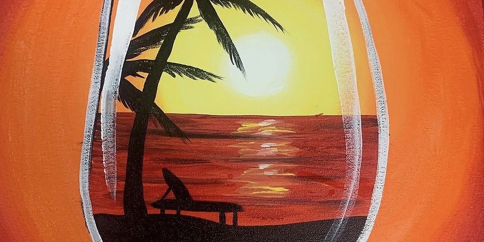 08/19 Wine On The Beach Sip & Paint  (In-Studio or Virtually)