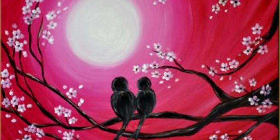 08/30  Love Birds Sip & Paint (In-Studio or Virtually)