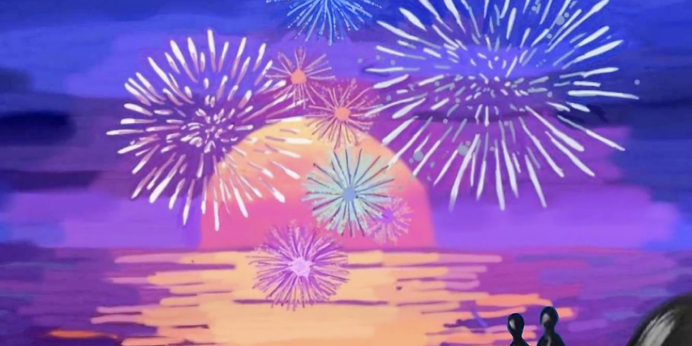 07/02 Fireworks At The Beach Sip & Paint  (In-Studio or Virtually)