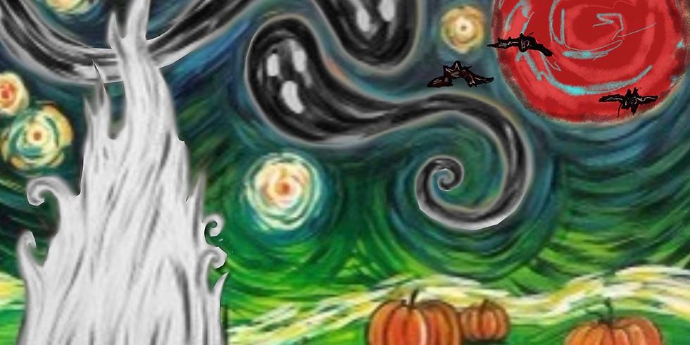 09/17 Spooky Night Sip & Paint  (In-Studio or Virtually)