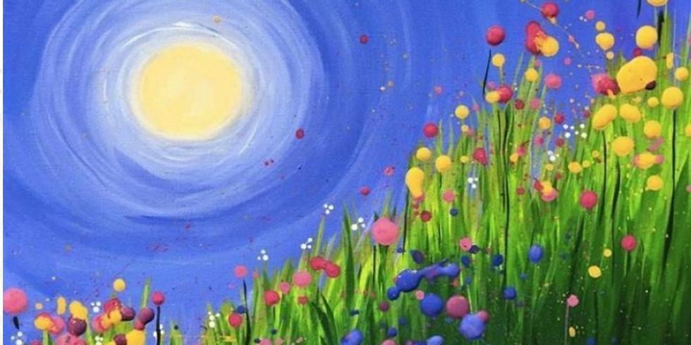 04/11 Spring Flowers Sip & Paint (In-Studio or Virtually)