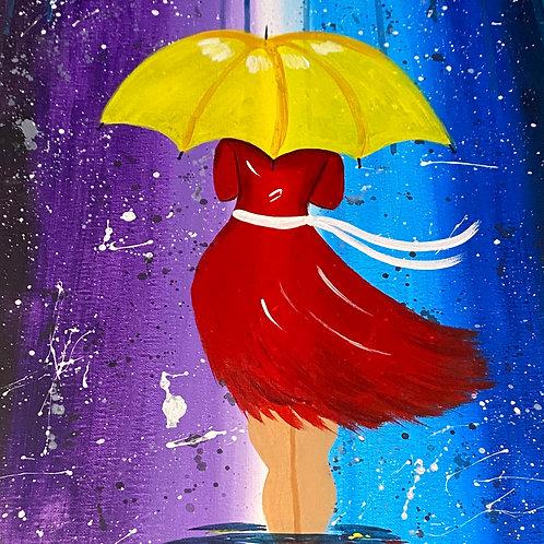 Let It Rain Predrawn Canvas W/O Paint