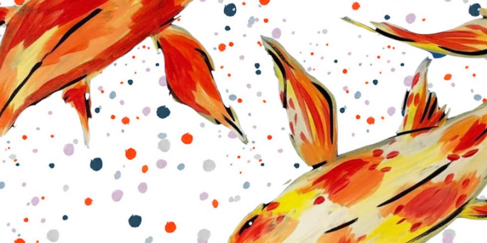 08/06 Koi Fish Sip & Paint  (In-Studio or Virtually)