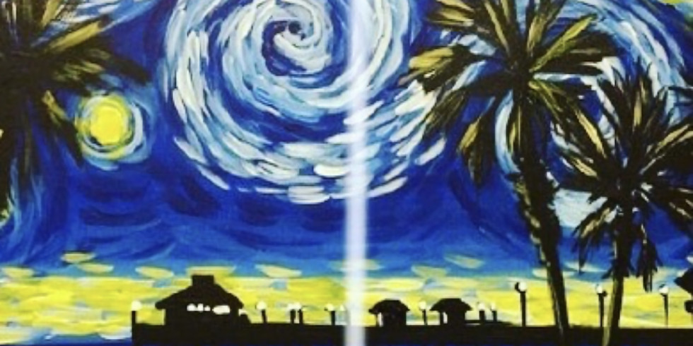 08/13 Starry Beach Sip & Paint (In-Studio or Virtually)