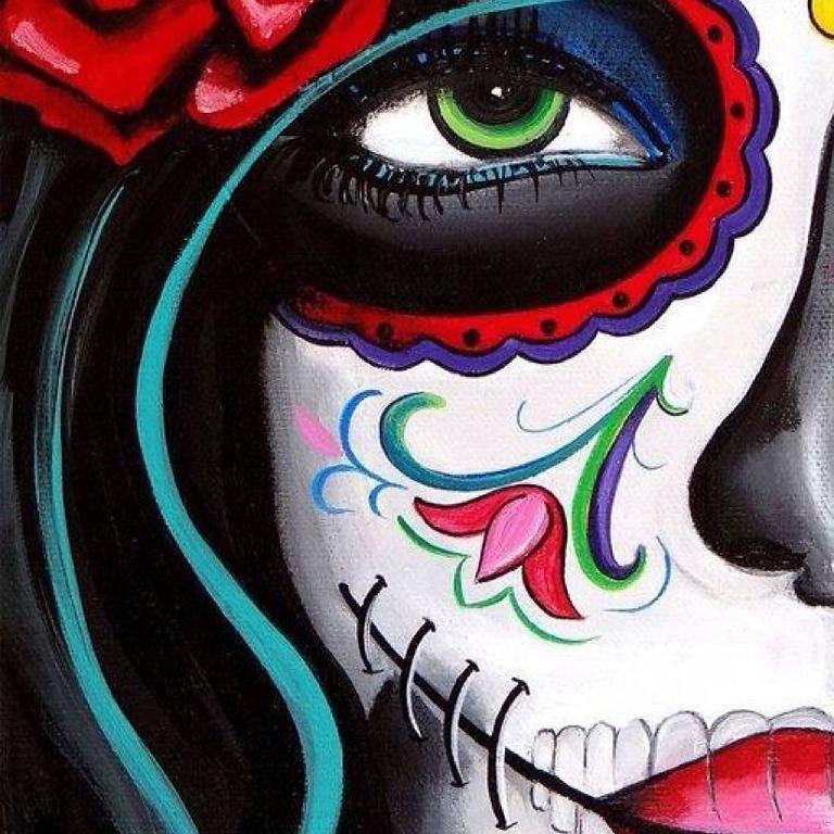 10/15 Dia Los Muertos Sip & Paint  (In-Studio or Virtually)