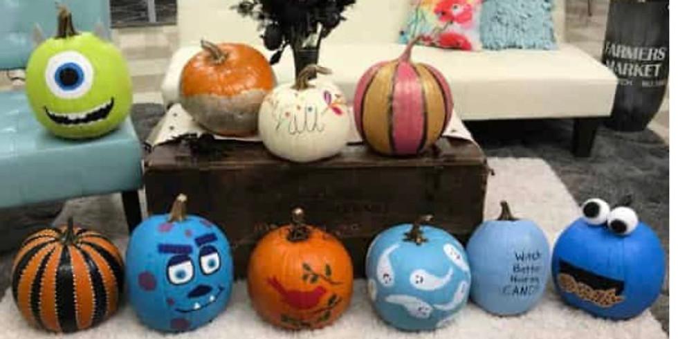 10/17 Paint Your Own Pumpkin Craft Class