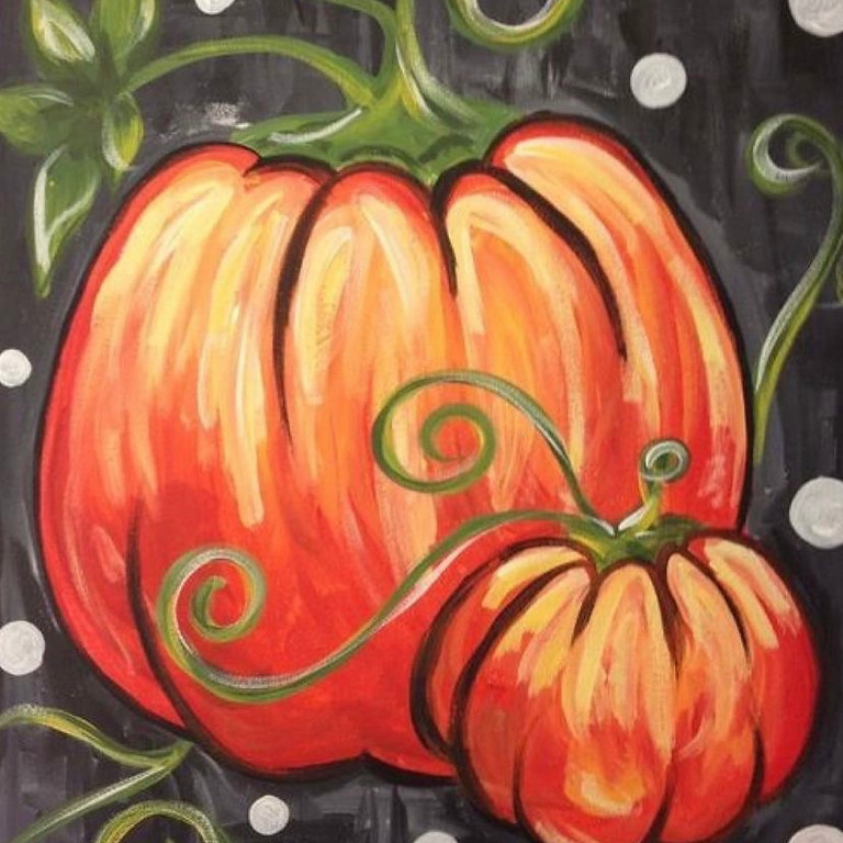 09/27 Pumpkin Patch Sip & Paint (In-Studio or Virtually)