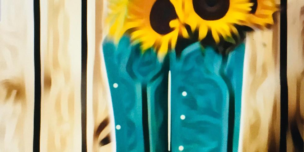 08/18 Sunflowers & Boots Sip & Paint