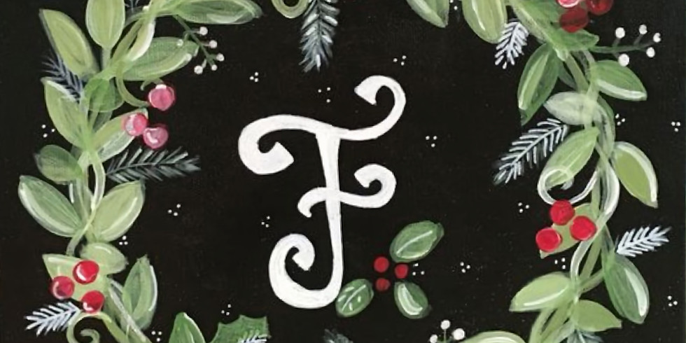 12/15 Holiday Wreath Sip & Paint