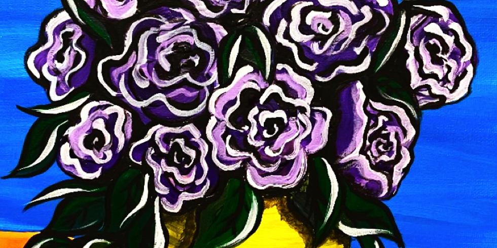 08/16 Violet Sip & Paint (In-Studio or Virtually)