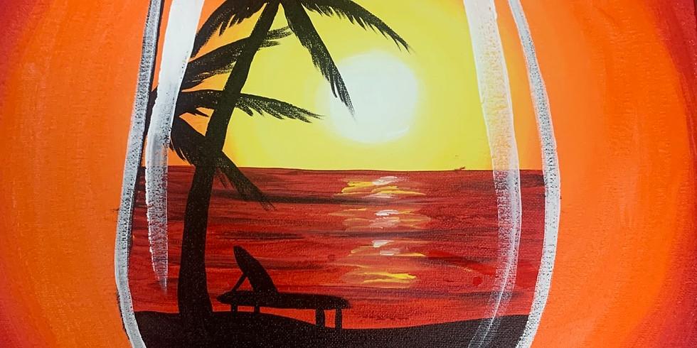 Tropical Delight Virtual Paint Party