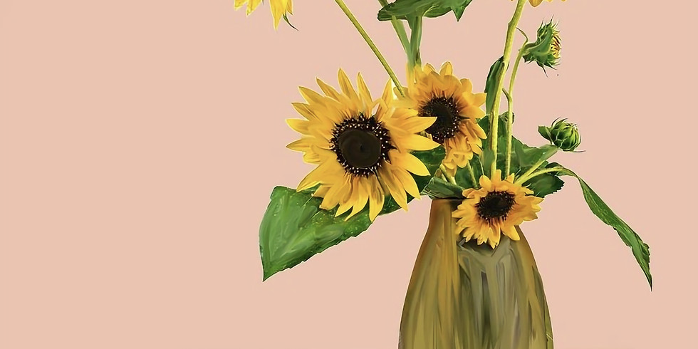09/13 Sunflowers Sip & Paint (In-Studio or Virtually)