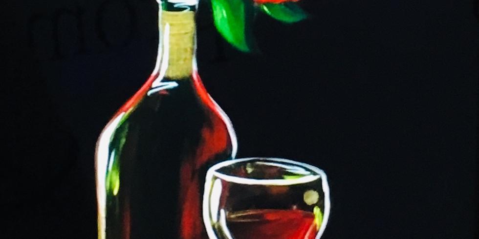 02/26 Rose Sip & Paint (In-Studio or Virtually)