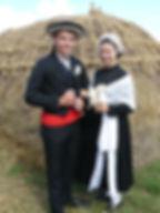Costumes traditionnels des mariés dans le Marais Nord Vendéen début XXe
