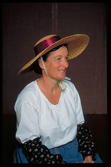 """Chapeau traditionnel """"panama"""" pour les champs début XXe"""