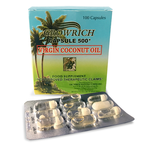 GROWRICH Virgin Coconut Oil Capsule (box of 100)