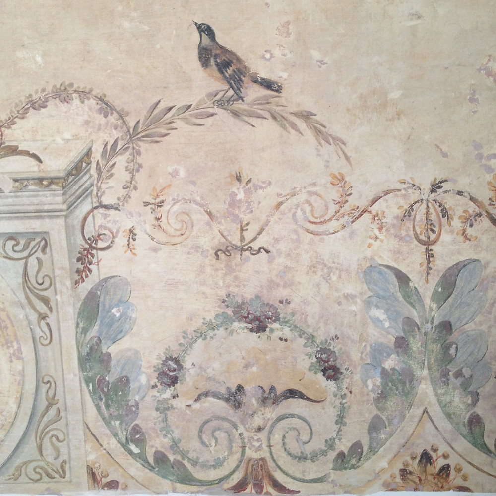 A detail of the mural paintings in our B&B in Lisbon