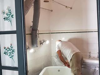 Bath renovation with enamel