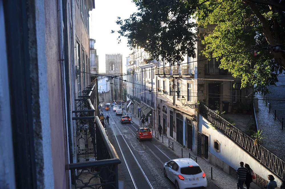 Rua Augusto Rosa, looking out on the Cathedral Sè, corner of Rua Saudade