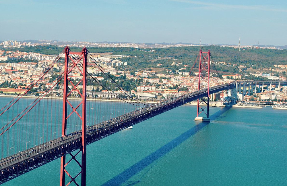 The famous hanging bridge of Lisbon