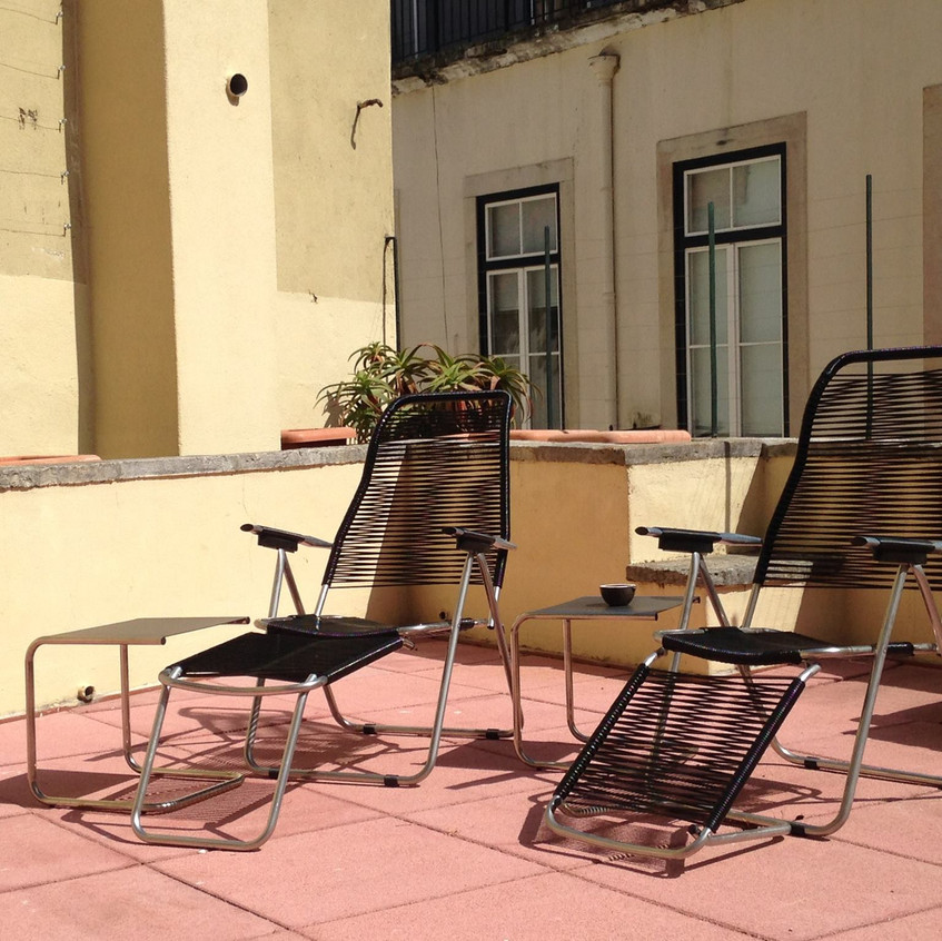 Alfama terrace in Lisbon