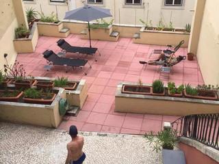 Historic Lisbon center terrace