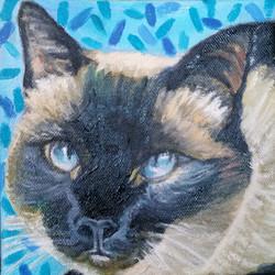 Custom cat portrait by Karen Seltzer