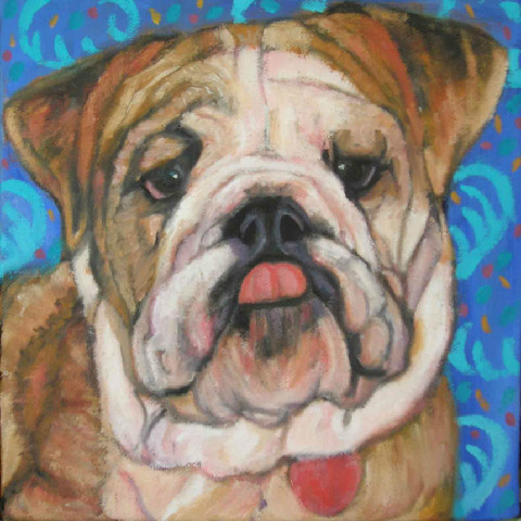 Custom portrait of a Bull Dog