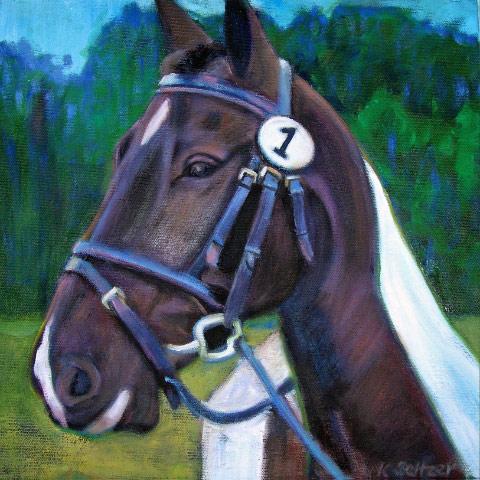 Horse portrait by Karen Seltzer