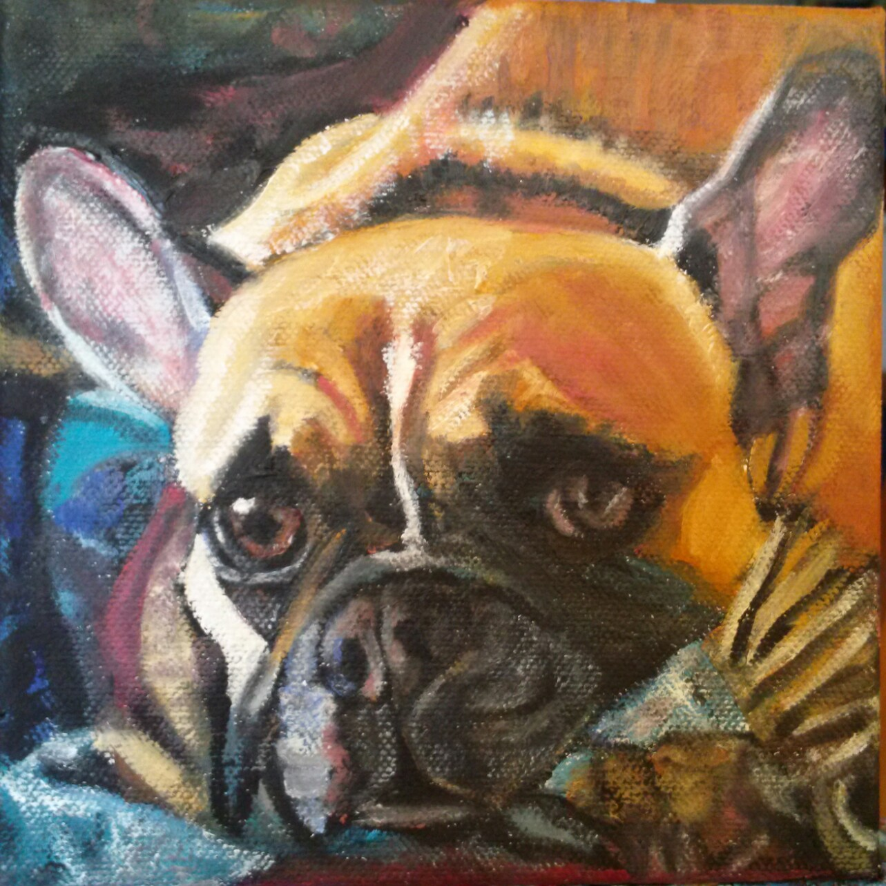 Pet Portrait of Leo, the Fr. Bulldog
