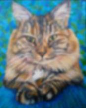 Custom cat portrait of Bella by Karen of BEST IN SHOW Pet Portraits