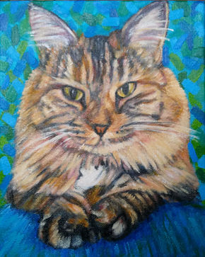 Custom cat portrait of Bella by Karen of BEST IN SHOW Pet Portraits