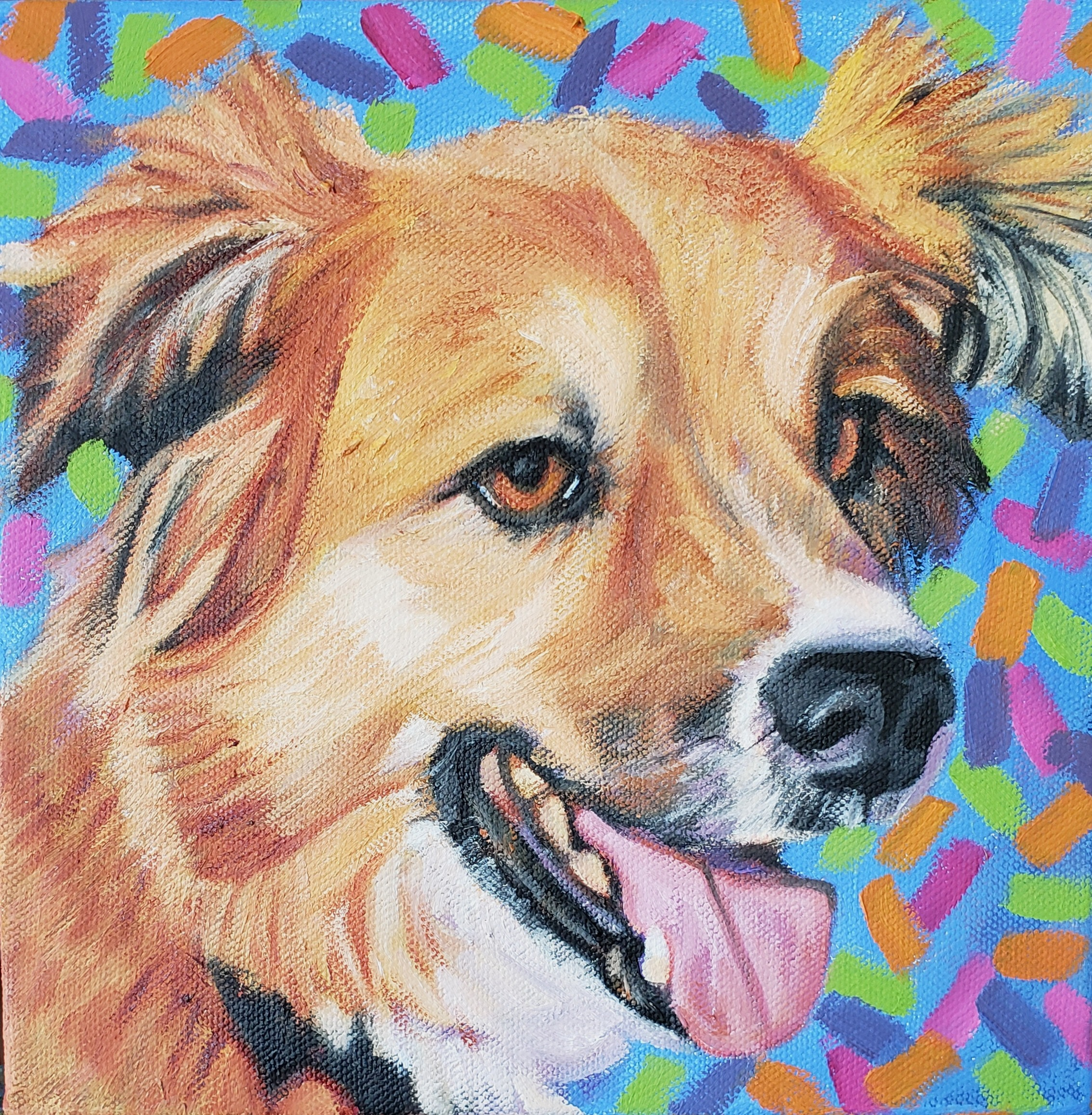 Custom Pet Portrait in Oil