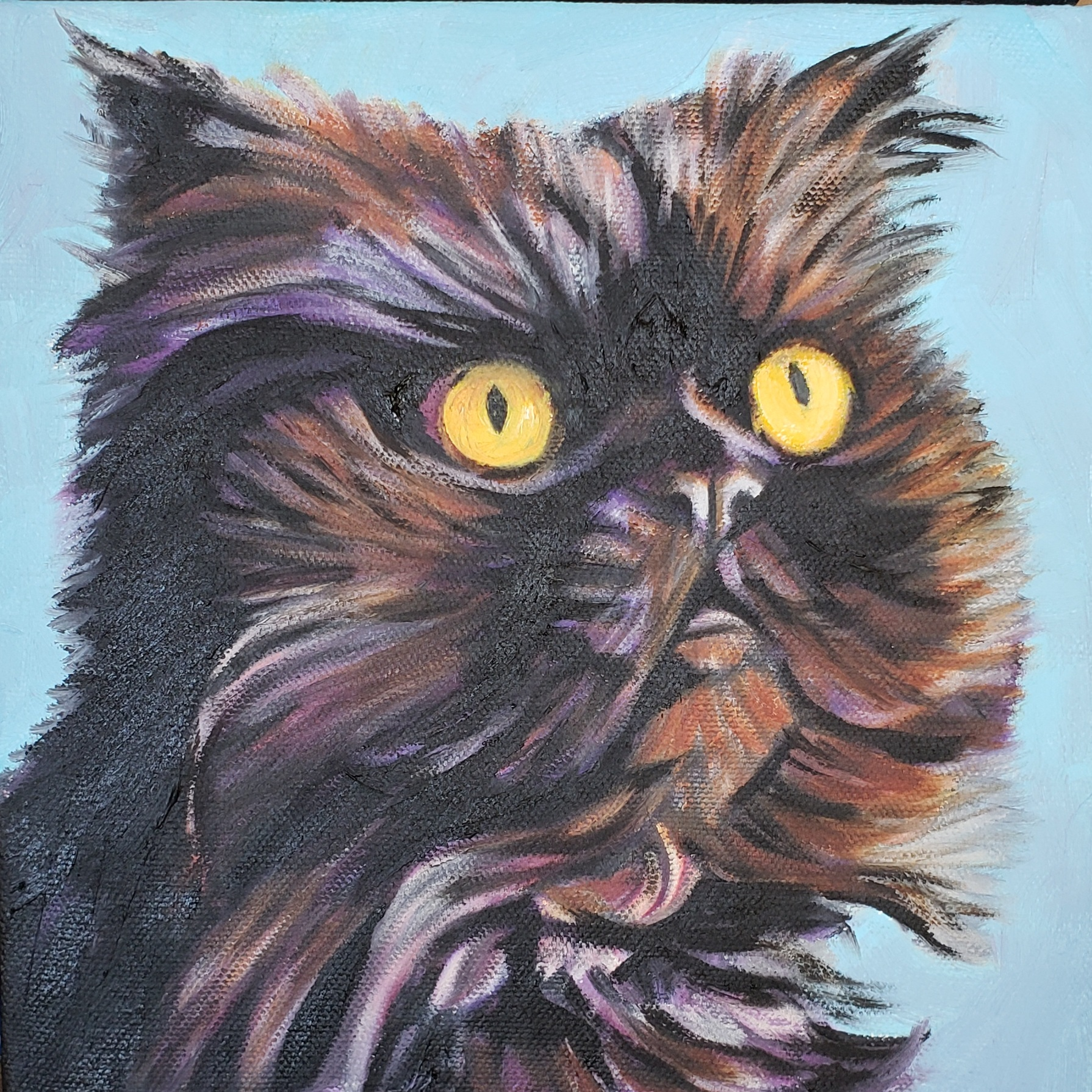 Custom Cat Portrait in Oil