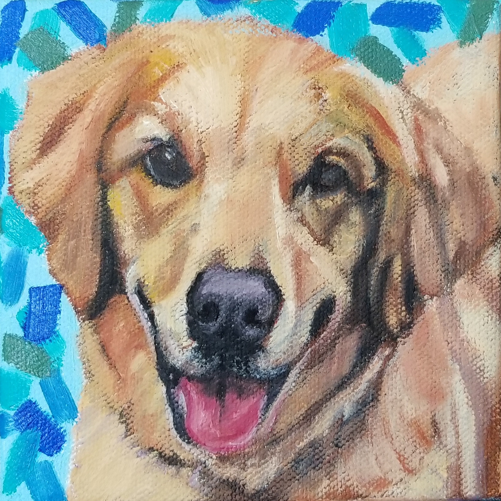 Portrait of Cy, the Golden Retriever