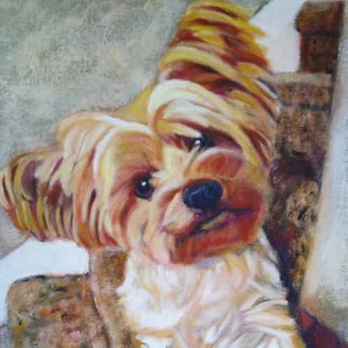 "18"" x 24"" custom pet portrait"