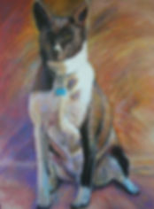 Custom dog portrait by Karen of BEST IN SHOW Pet Portraits