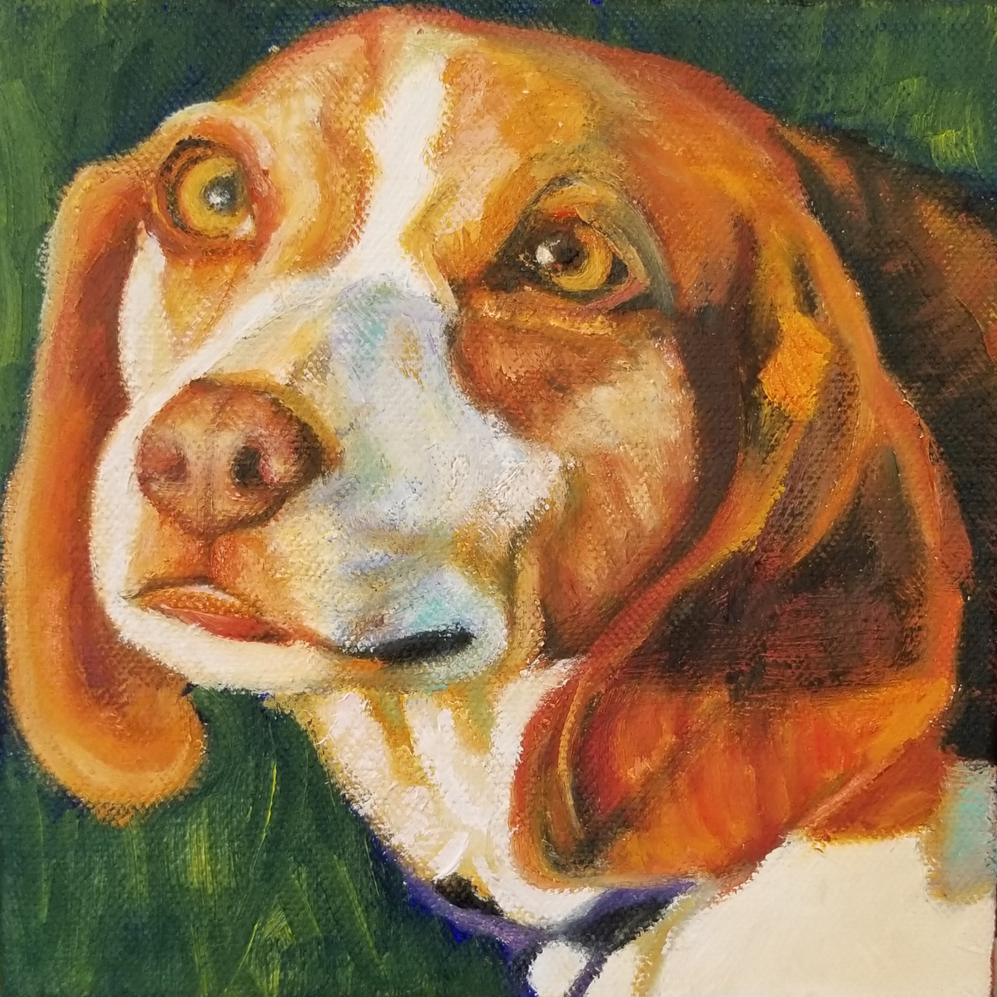 Pet Portrait of Ozzy the beagle's