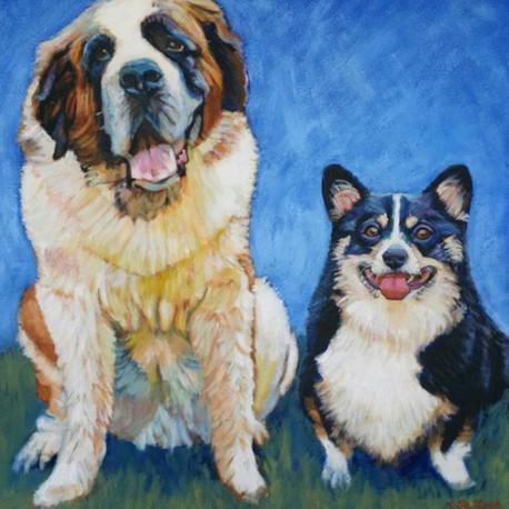Custom Portrait of Mutt Strut's 2017 TOP DOG