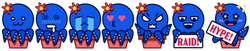 Commission - Octo Orchid Twitch Emotes Full Strip