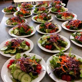 Plates of FreshGarden Salad