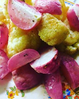 Roasted Cauliflower and Radish! Delish!