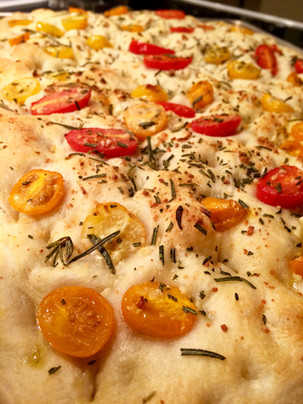 Cherry Tomatoes and Rosemary Foccacia