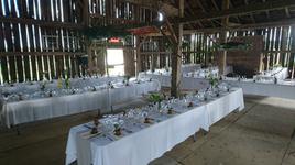 Wedding Reception in a barn