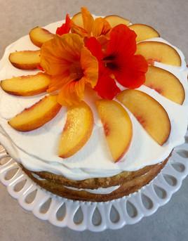 Summer Peach Layered Birthday Cake